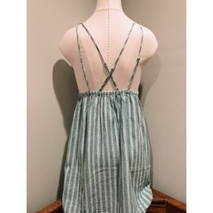 987d0a8488 Urban Outfitters Dresses - UO Breezy Plunging Strappy Linen Mini